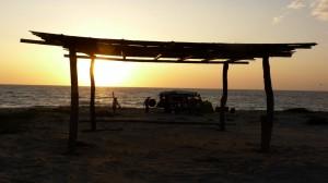 sleeping on the coast of Cancas
