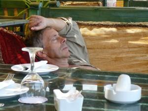 even bijtanken bij een koffiestop