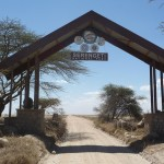 well known picture of entrance Serengeti