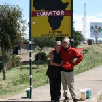Dirk & Trudy at the equator