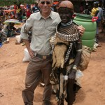 Dirk with tribes woman