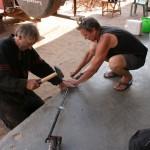 fixing the stirring rod again