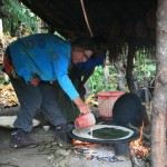 making the injera