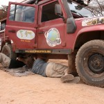 repairing the Land Rover
