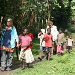 walking with Ari kids