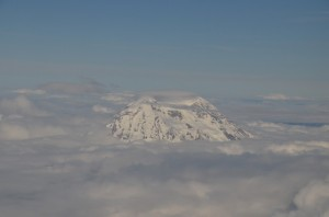 Berg boven wolk