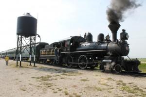 locomotive at the station
