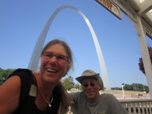 Dirk & Trudy with the arch