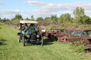 model T at the cemetery