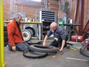 repairing tire 1