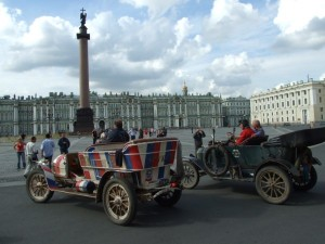 Spyker and Model T in St.Petersburg 1