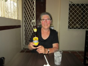 Trudy's first Colombian beer