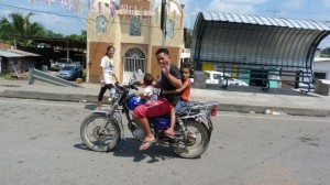 four on a motorbike