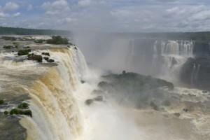 Iguazu falls on Brazilian side
