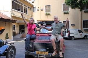 Liza and Wouter in Santos